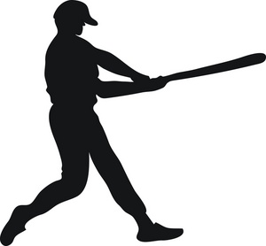 Baseball Hitter Clipart.