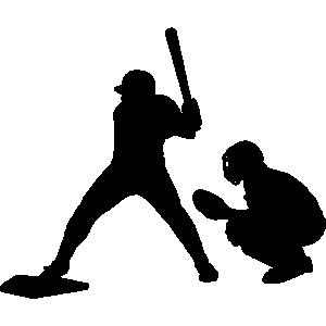 Baseball batter clipart.