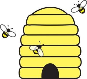 Bee Hive Border Clipart.