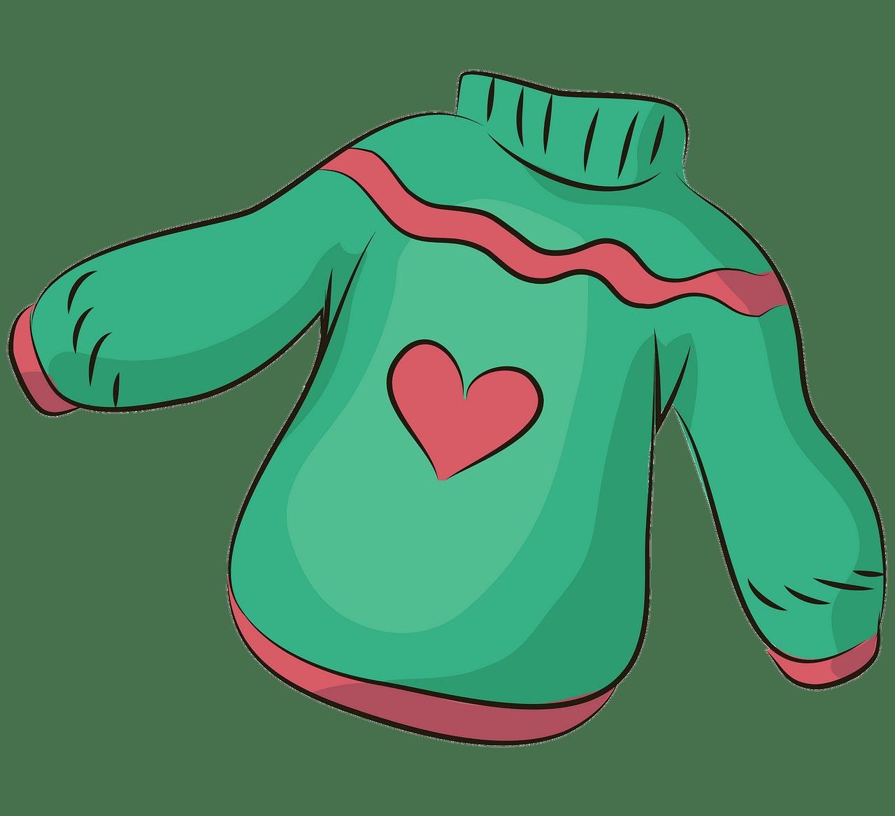 Sweater med hjerte. Gratis download..