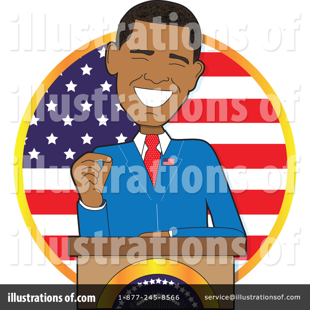 Obama Cartoons Clipart.