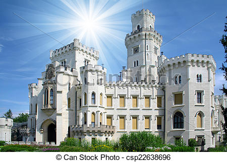 Stock Photographs of Hluboka castle.