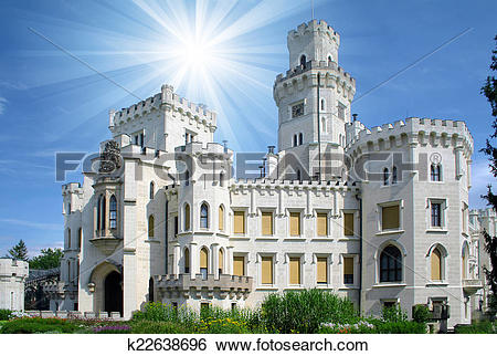 Stock Images of Hluboka castle.