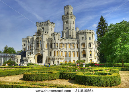 Beautiful Hluboka Castle I Renaissance Stock Photos, Royalty.