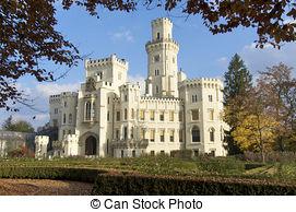 Stock Photography of bohemian castle Hluboka nad Vltavou, Czech.