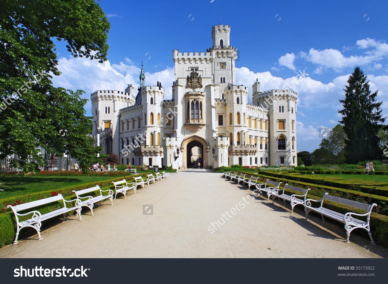 Castle Hluboka Nad Vltavou Czech Republic Stock Photo 55173922.