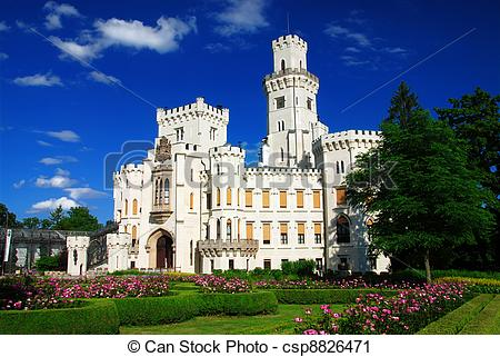 Stock Photography of Castle Hluboka.