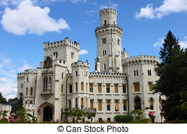 Stock Photography of bohemian castle Hluboka nad Vltavou, Czech.