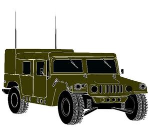 HMMWV Humvee Clipart.