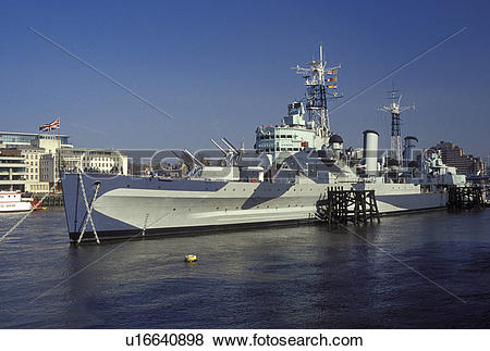 Pictures of HMS Belfast, London, England, Great Britain, United.