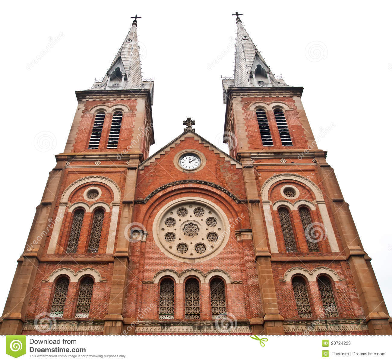 Notre Dame Cathedral In Ho Chi Minh City Vietnam Stock Photos.