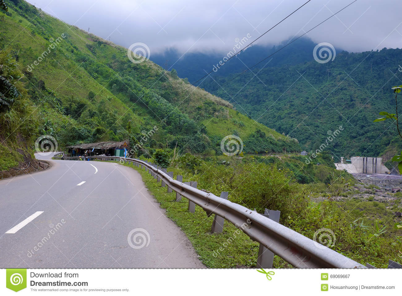 Ho Chi Minh Trail, Forest, Mountain, Terrain Stock Photo.