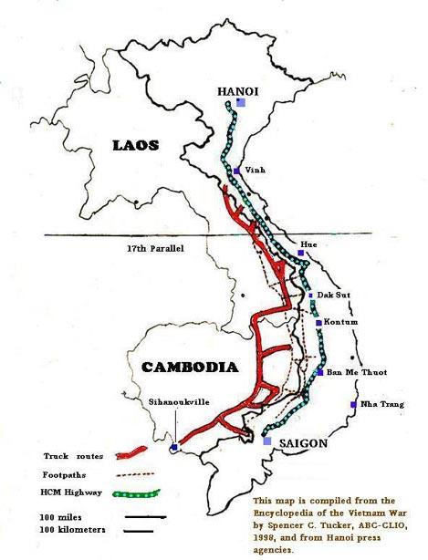 Maps: Vietnam Map Ho Chi Minh Trail.