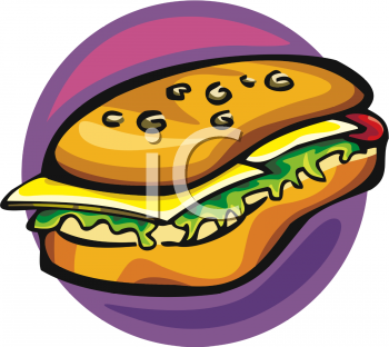 Clipart Picture Of A Hoagie Sandwich.