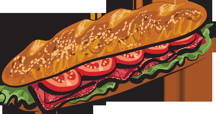 Deli Sandwich Clipart.