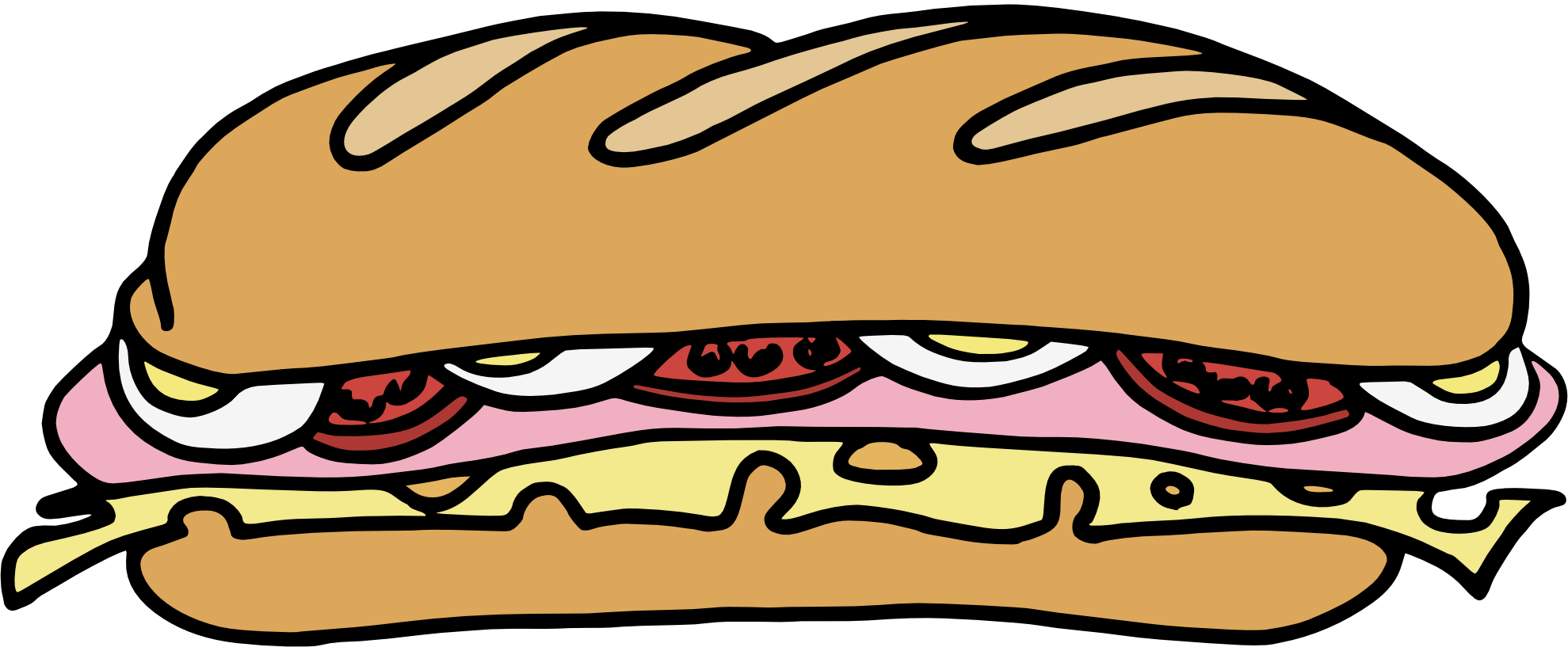 Black and white hoagie clipart.