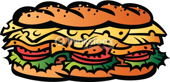 Gallery For > Submarine Sandwich Clipart.