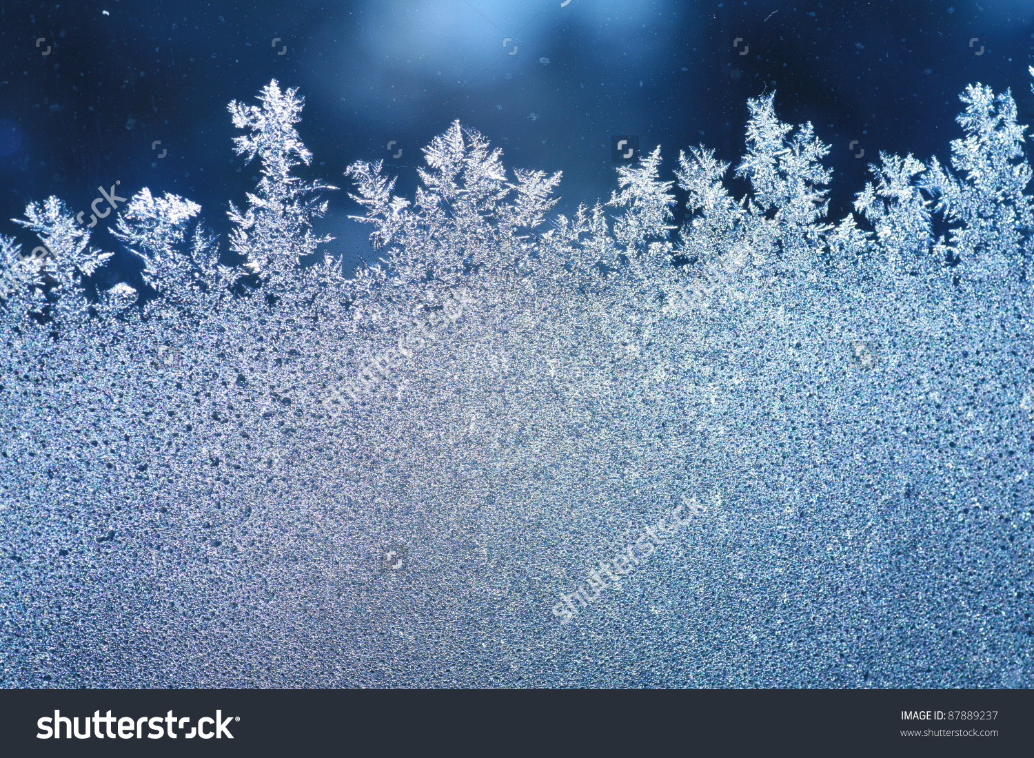 Patterns Made By Frost On Window Stock Photo 87889237.