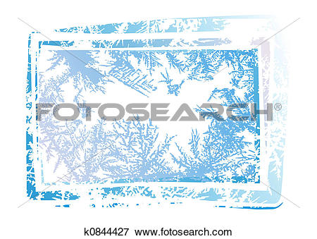 Stock Illustration of Natural hoarfrost grunge background k0844427.
