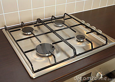 Gas Oven Hob Stock Photography.