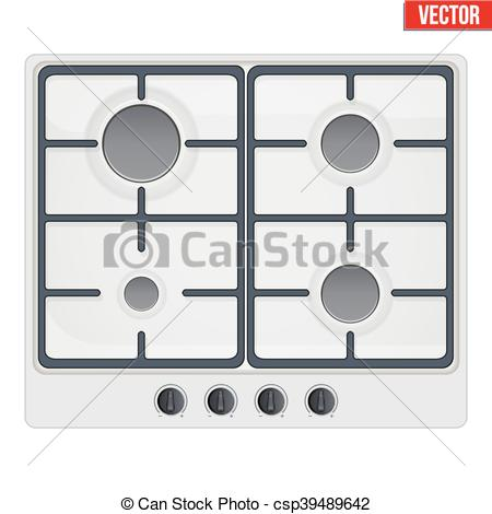 EPS Vector of surface of gas stove.