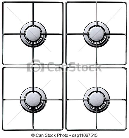 Stock Photography of gas hob.