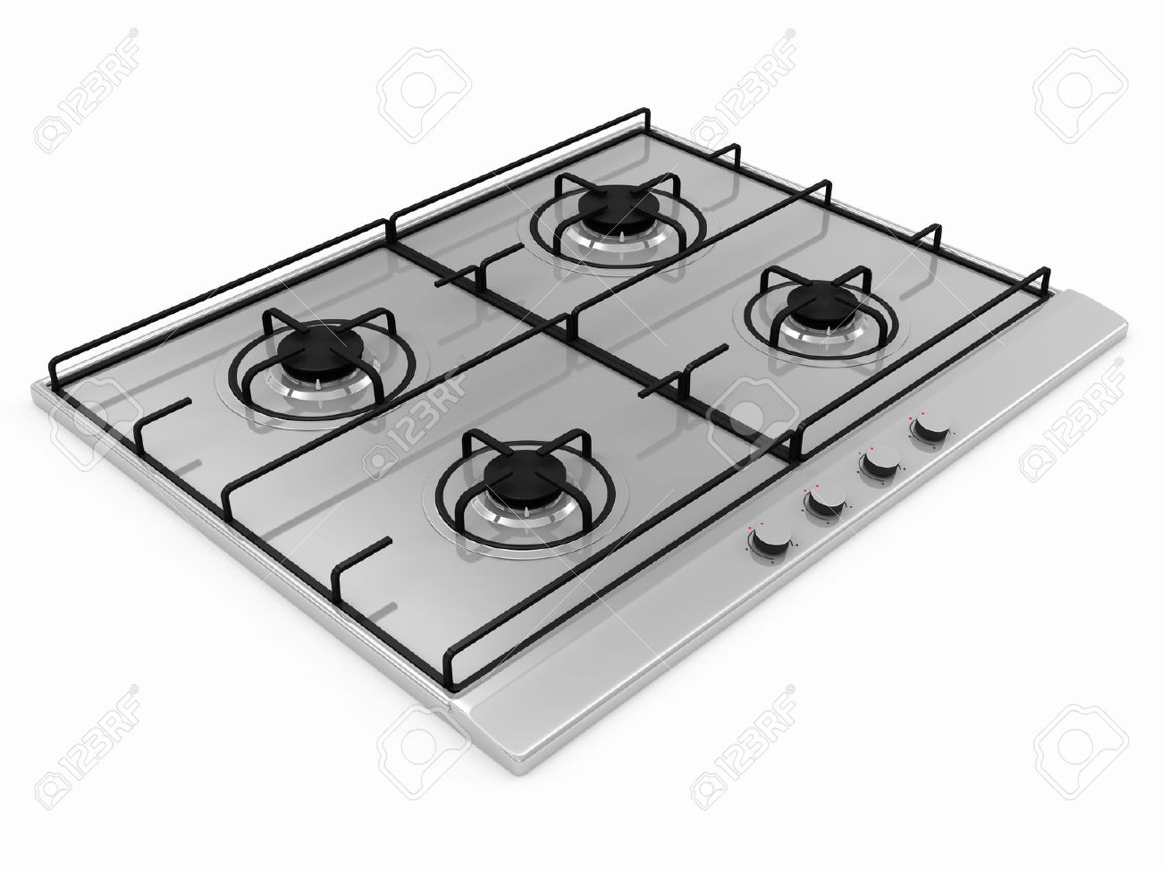 Gas Stove Isolated On White Background Stock Photo, Picture And.