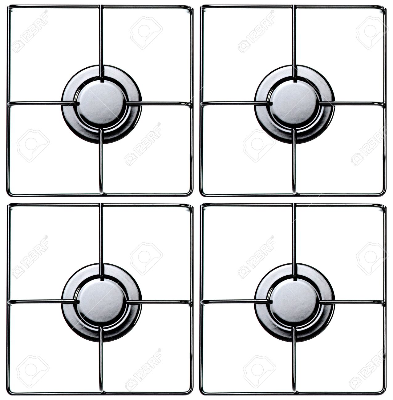 Stainless Steel Gas Hob Or Stove. Stock Photo, Picture And Royalty.