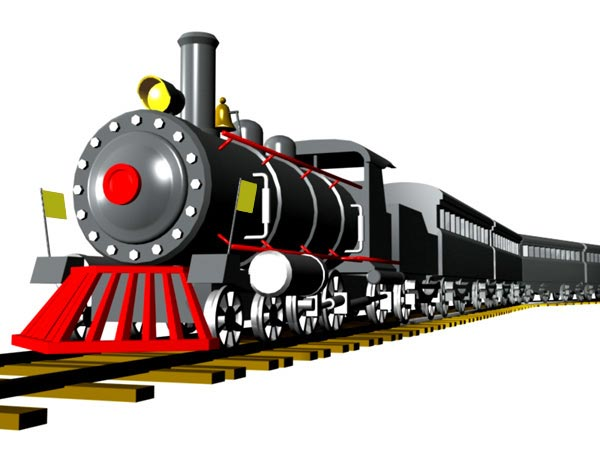 Model Train Clipart.