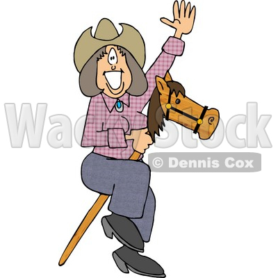 Hobby Horse Clipart by Dennis Cox.