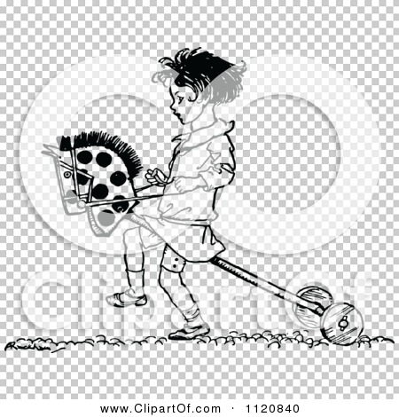 Clipart Of A Retro Vintage Black And White Girl Playing With A.