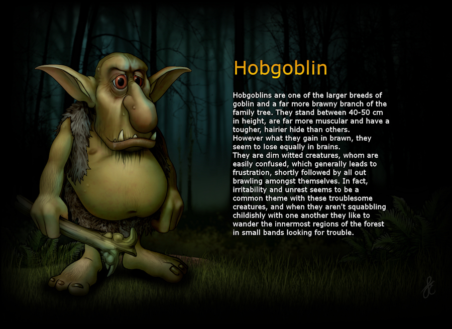 Hobgoblin : Ickle Peeps, Cute Fantasy Art, Graphics and clipart by.