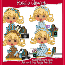 Hobby Clipart : Scrapping Goodies, Clip Art Collection, Digital.