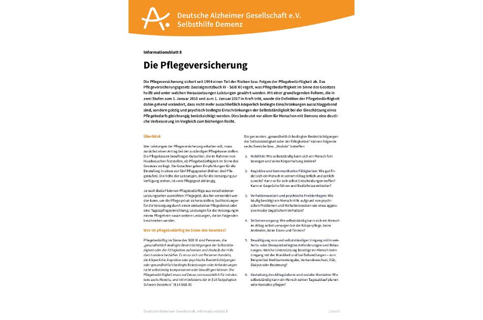 Deutsche Alzheimer Gesellschaft e.V. Selbsthilfe Demenz.