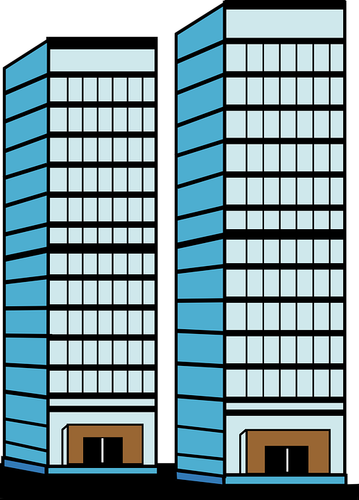 Free vector graphic: Skyscrapers, Height, Door, Windows.