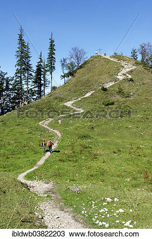 """Stock Photo of """"Trail to the peak of Spitzen Stein on the."""