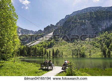 Stock Photo of Lake Frillensee, Inzell, Staufen mountain group.