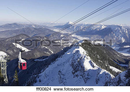 Stock Photo of Germany, Bavaria, Hochfelln, mountainscape with.