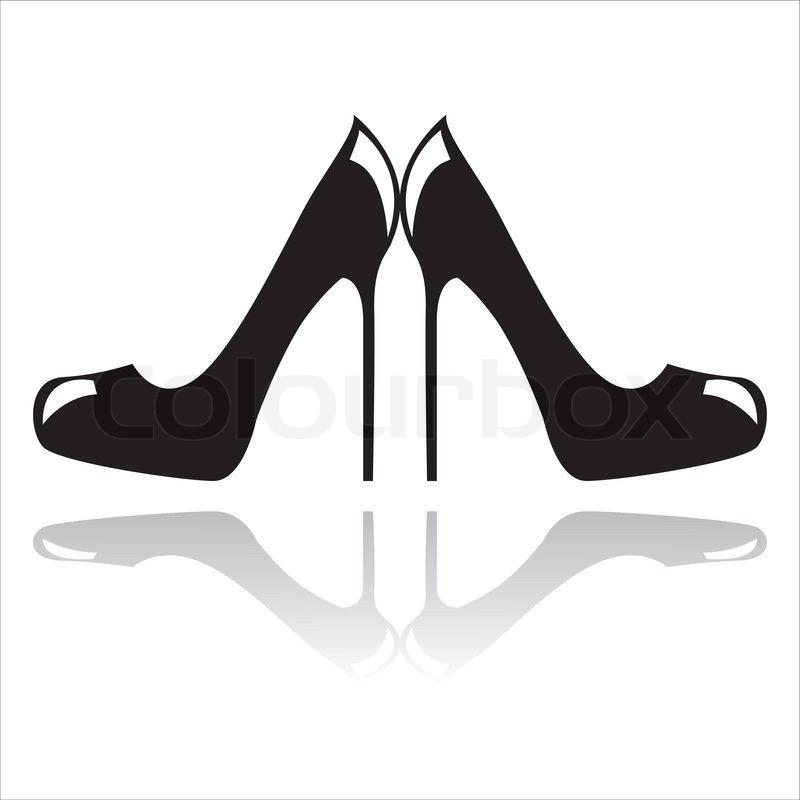Schwarze Hochhackige Schuhe Stock Vektor Colourbox #IJXeLe.