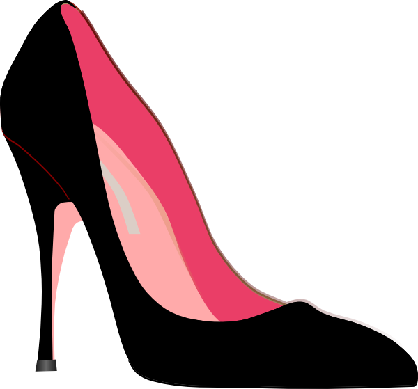 High Heel Black And White Clipart.