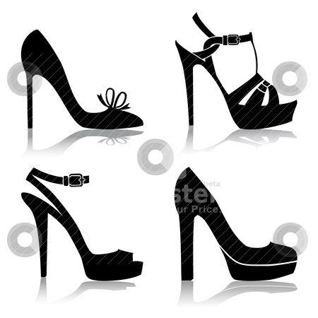 shoe silhouette clip art.