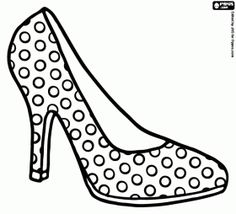 Clipart Hochhackige Schuhe And Abs Sketch Coloring Page.