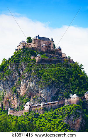 Stock Image of Hochosterwitz stronghold in Austria k18871415.
