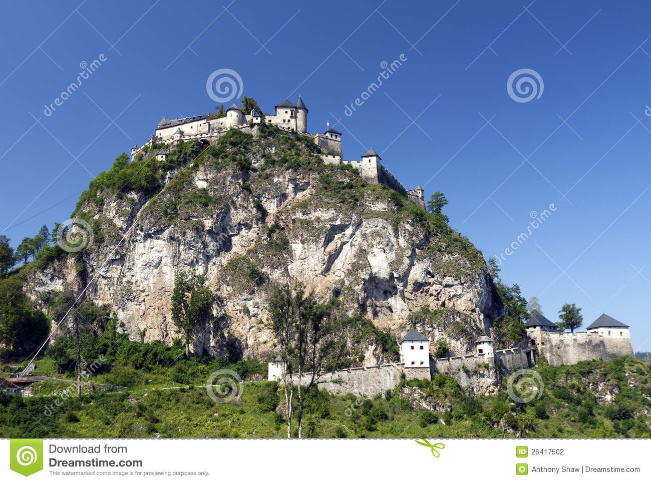 Castle Hochosterwitz Austria Stock Photography.