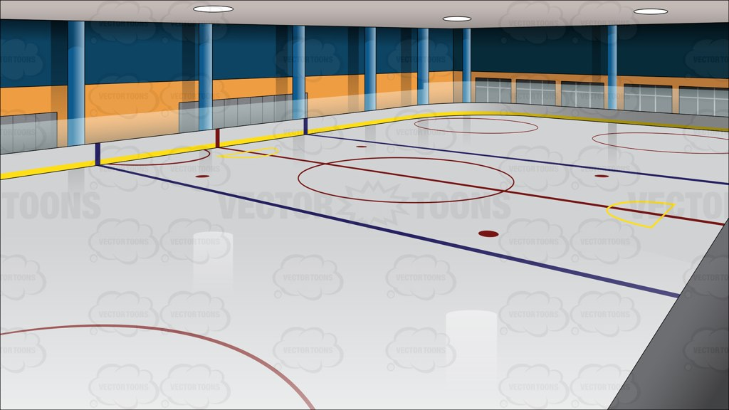 Ice Hockey Rink Background.