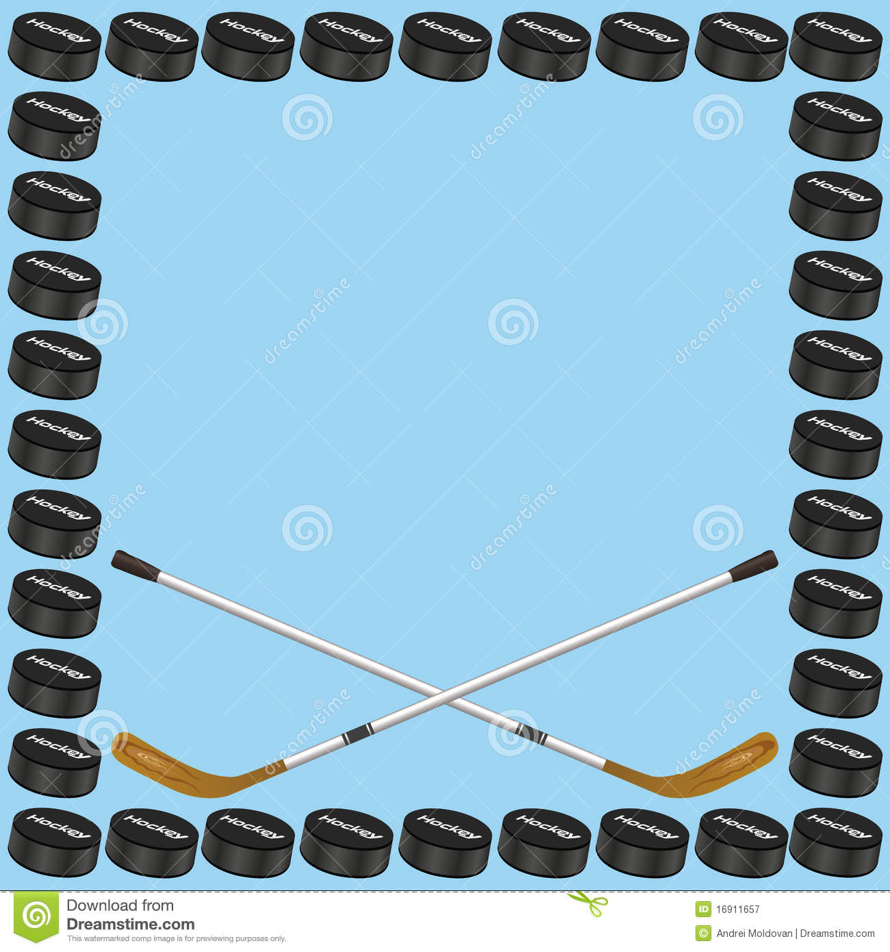Hockey Background Card Stock Vector. Illus #200395.