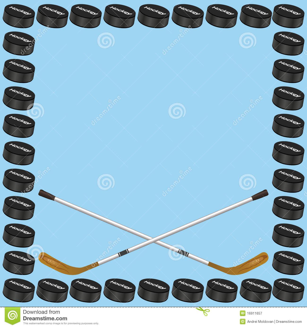 Hockey Background Card Stock Vector. Illus #200395.