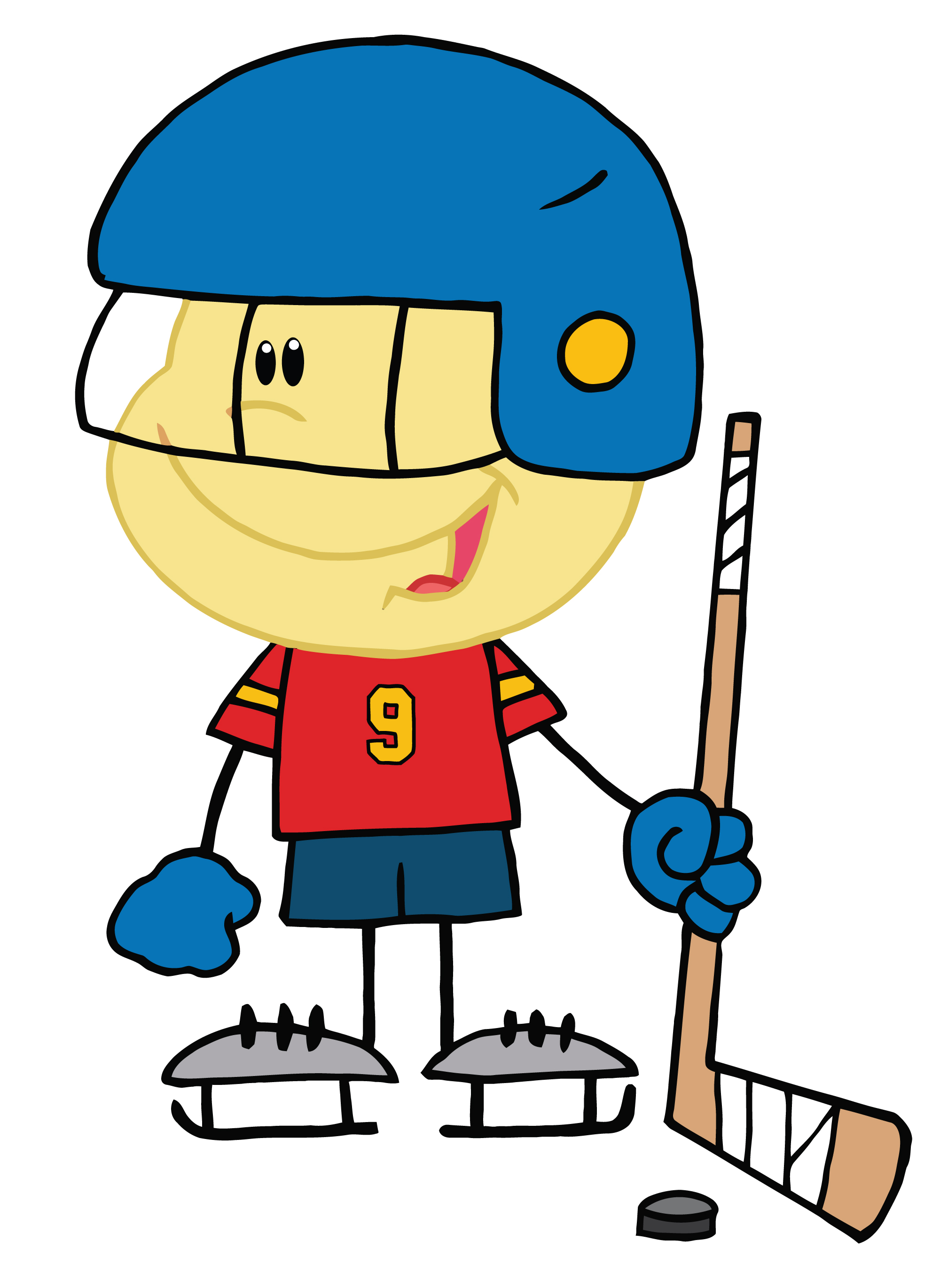 Floor hockey clip art.