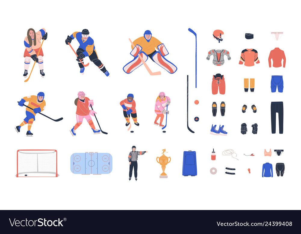 Ice hockey clipart collection.
