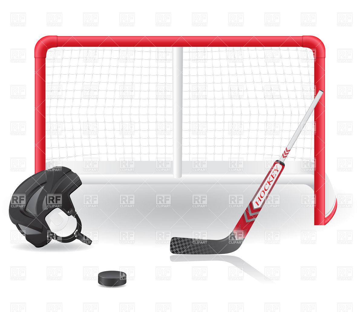Ice Hockey Net Clipart.